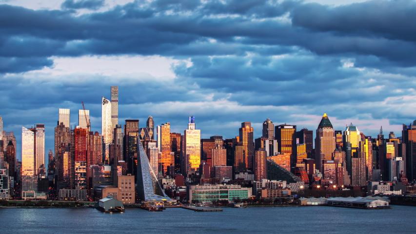 New York City Landscape Timelapse. 4K Footage in USA