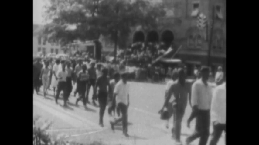 CIRCA 1963 - State troopers go after civil rights rioters with extreme prejudice after the bombing of a church in Birmingham, Alabama.