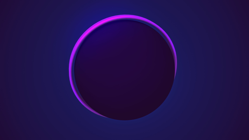Abstract seamless loop of 3D render of a glow neon ball. 4K perfect for projection mapping music shows | Shutterstock HD Video #1051552747