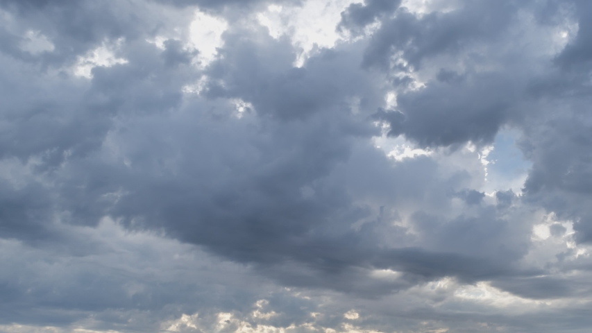 Storm clouds with rain, strong wind. 4k, 3840x2160, Timelapse. | Shutterstock HD Video #1051569970