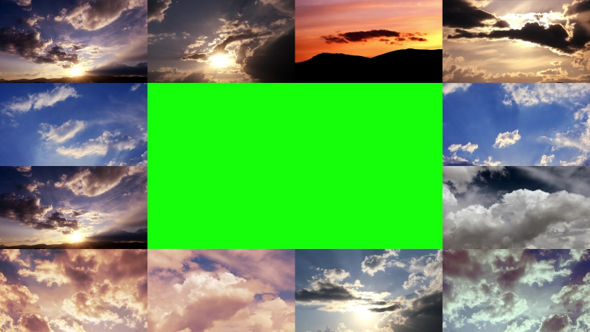 Time lapse clouds 4k rolling puffy cumulus cloud green screen studio Royalty-Free Stock Footage #1051739653