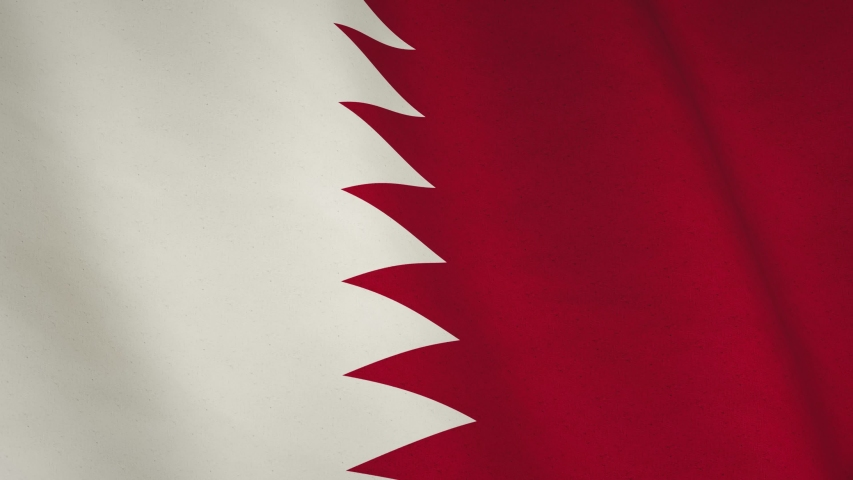 Qatar background flag waving looping footage. Qatari patriot banner and closeup patriotic symbol - seamless loop animation video | Shutterstock HD Video #1051741678