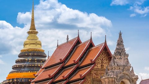 Wat Phra That Lampang Luang Famous Temple Of Lampang, Thailand (zoom out)