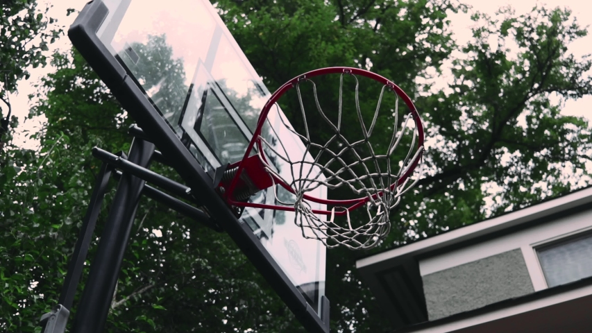 Basketball Shot on a Summer Day