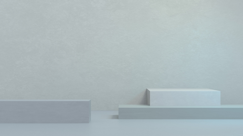 3D Animation of abstract podium pale blue composition. Room for your text and products. Great for marketing or corporate presentations. | Shutterstock HD Video #1052191291