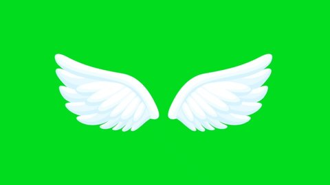 3 D Angel Wings Stock Video Footage