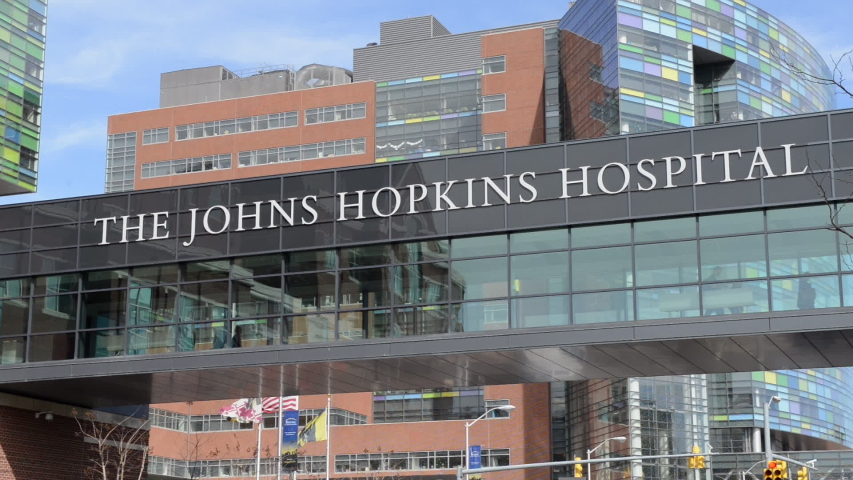 Baltimore, Maryland/USA - May 20, 2016 : Johns Hopkins University Hospital