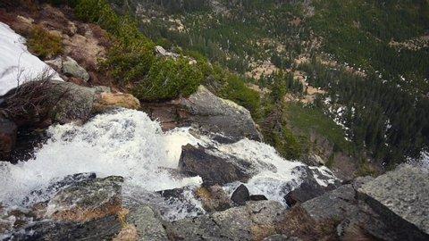 amazing waterfall in the Czech mountains Krkonoše.