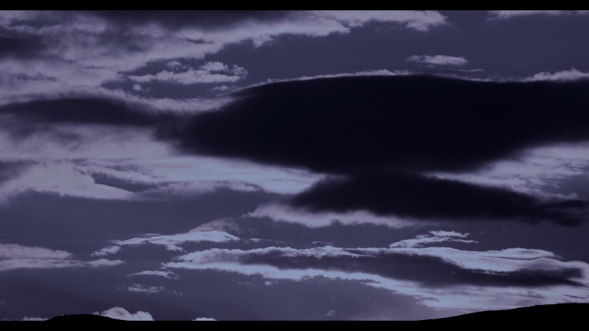 Night Clouds growing backgrounds collection   Shutterstock HD Video #1052412514
