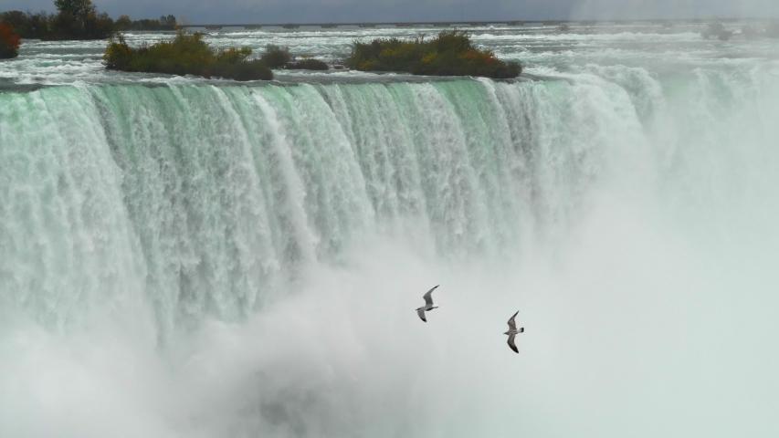 Waterfall Niagara River Waterfalls, Scenic Tourist Destination Canada USA Border