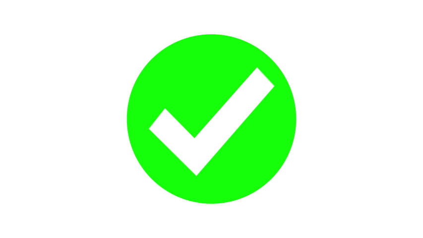 Green check mark icon animation Royalty-Free Stock Footage #1052593979