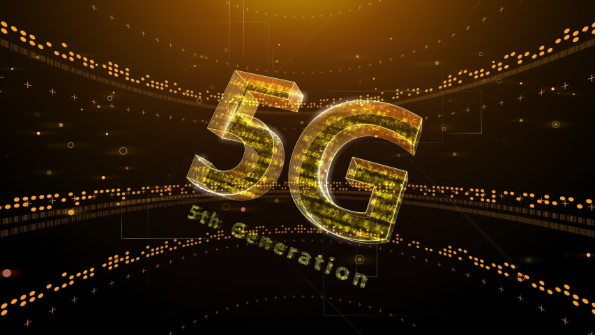 5G Digital Network technology 5th generation mobile communication concept Background.  | Shutterstock HD Video #1052630066