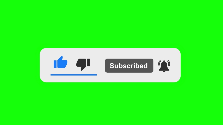 SUBSCRIBE BUTTON ON GREEN SCREEN  | Shutterstock HD Video #1052648474