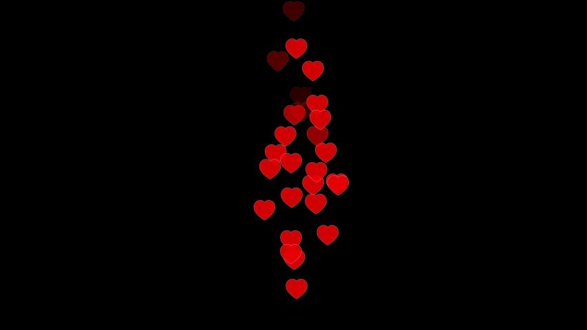 Red hearts flying, love, social media, celebration