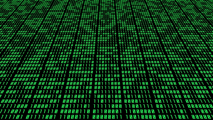 Binary Number Matrix Side Tracking Camera Perspective Animation on Black Background | Shutterstock HD Video #1052700353