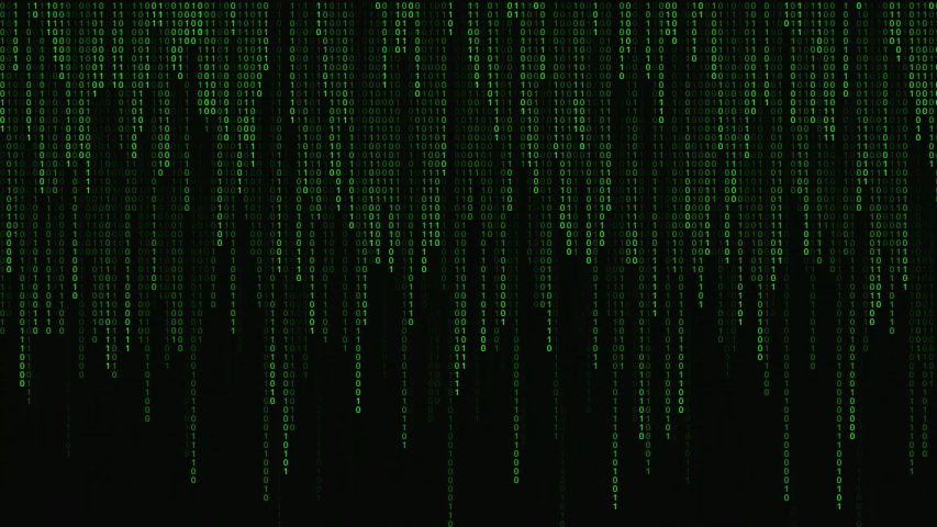 Digital binary code processing on screen background loop. Data rendering of a scientific technology data binary code. Concept of science, motion graphic, digital technology, matrix background. Royalty-Free Stock Footage #1052718794