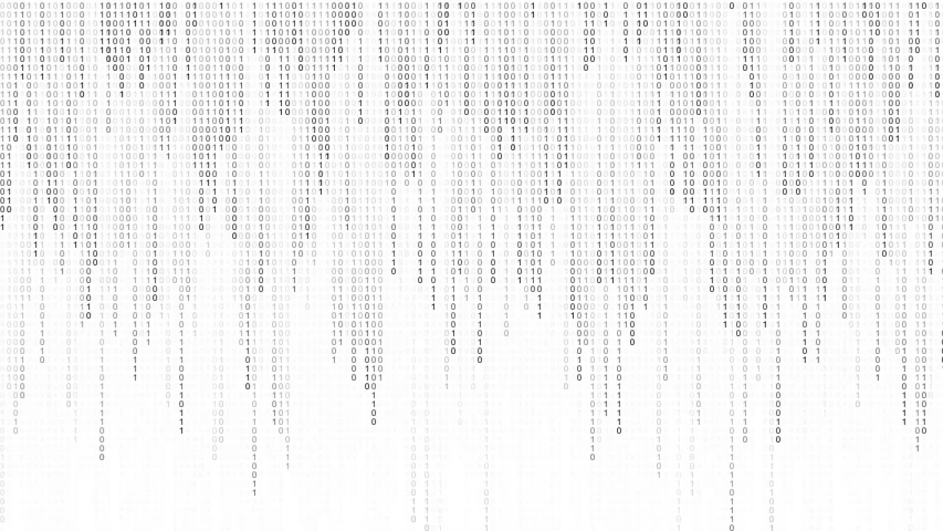 Digital binary code processing on screen background loop. Data rendering of a scientific technology data binary code. Concept of science, motion graphic, digital technology, matrix background. Royalty-Free Stock Footage #1052718797