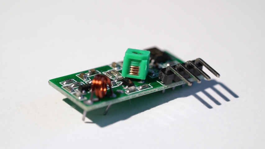 Receiver and transmitter module for arduino electronic components. DIY engineering radio part | Shutterstock HD Video #1052726564