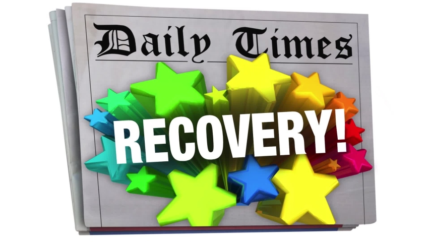 Recovery Newspaper Headline Economy Improvement Growth 3d Animation | Shutterstock HD Video #1052734271
