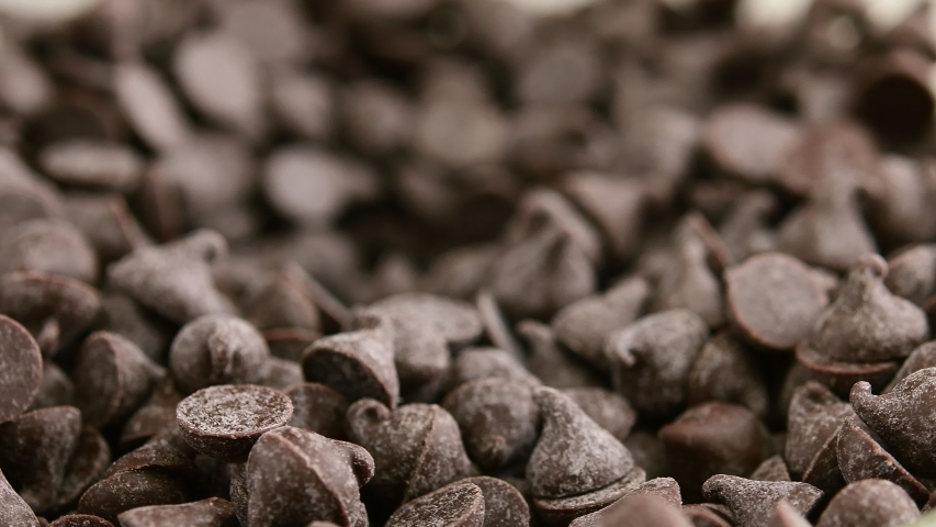 Chocolate chips Rotation at close up view. | Shutterstock HD Video #1052739539