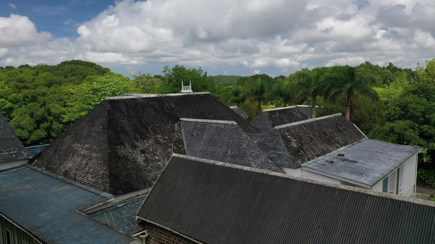 Top view of the Botanical gardens of sir Seewoosagur Ramgoolam near Port Louis, Mauritius, Africa | Shutterstock HD Video #1052748857