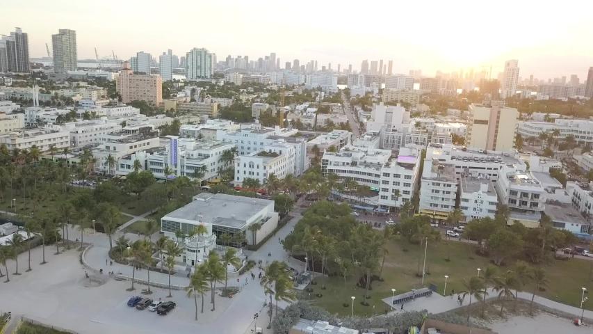 South Beach Miami Aerial Drone