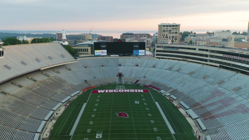 Madison , Wisconsin / United States - 06 14 2019: Camp Randall Stadium is home of the Wisconsin Badgers.