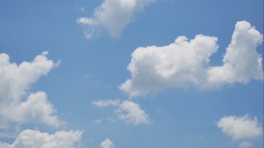 4k,time lapse,The clouds flow in the beautiful blue sky | Shutterstock HD Video #1052844389