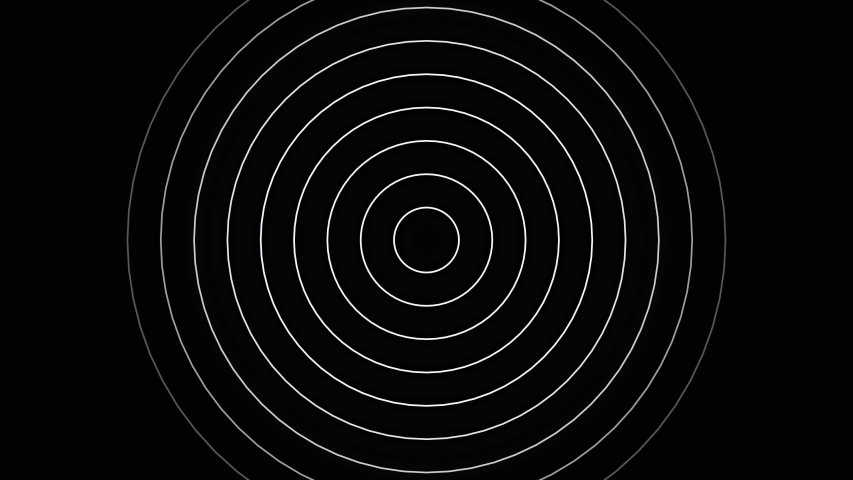 Black and white circle line infinite rotation and slow motion.Is a seamless video and black background.