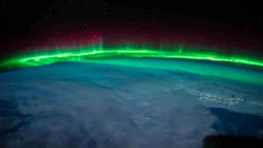 Time lapse of Aurora Borealis over Eastern North America | Shutterstock HD Video #1052875394