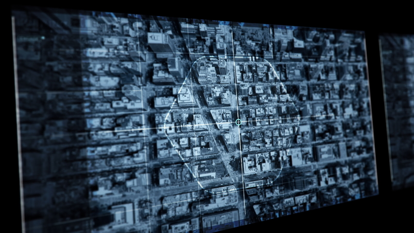 Spy Eye, big brother, Spying in New York Megapolis like in Mission Impossible movie | Shutterstock HD Video #1052878811