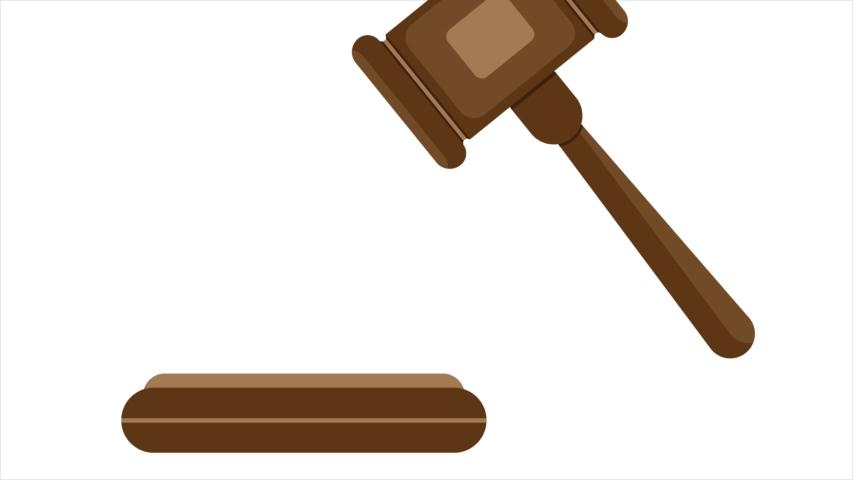 Judges hammer, art video illustration. | Shutterstock HD Video #1052879699