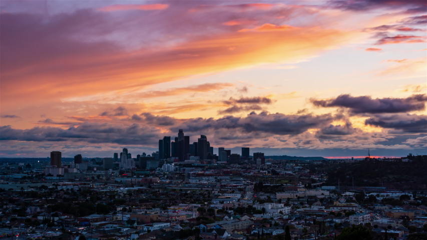 Downtown Los Angeles Sunset Timelapse