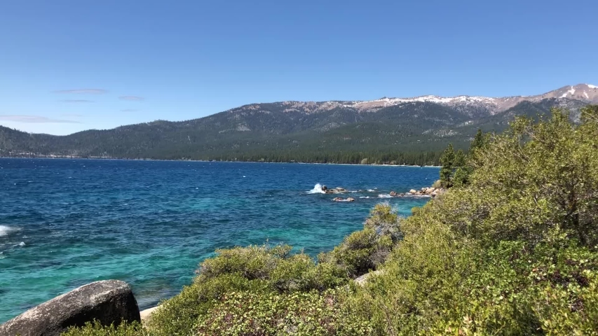 Gorgeous blue waters on the East Shore of Lake Tahoe.