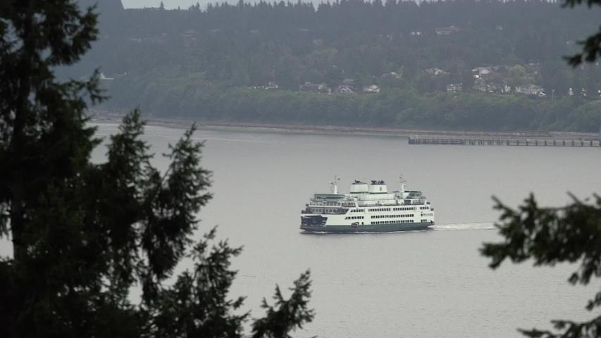Washington State Ferry Boat Ferries Transportation Tourism Travel | Shutterstock HD Video #1052916824