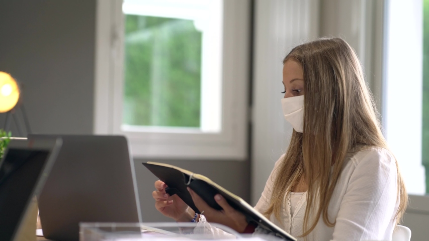 Young student wearing a mask | Shutterstock HD Video #1052921147