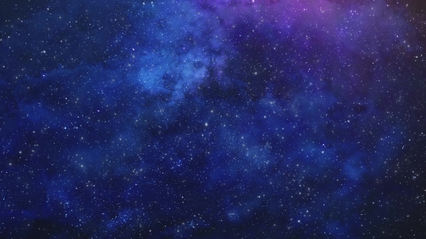 Starry Colorful Night Sky With Milky Way Backdrop Video Background For Composition Sky Replacement with glittering, twinkling stars