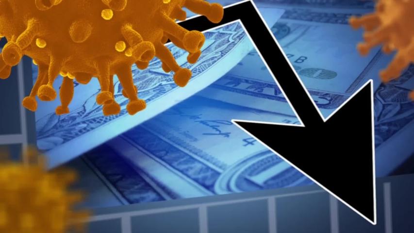 Coronavirus financial crisis Covid 19 economy concept | Shutterstock HD Video #1052948597