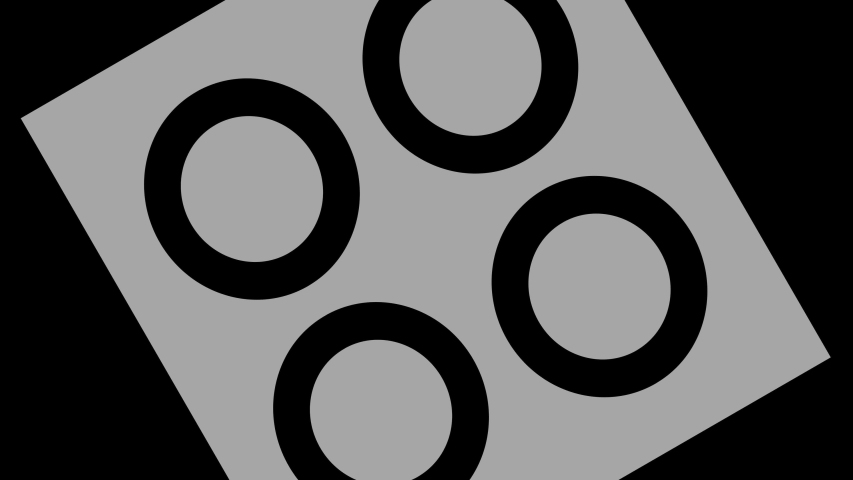 Graphic object in black and white with stroboscopic and hypnotic effect, which rotates clockwise decreasing the size from full screen to disappearing in the center. | Shutterstock HD Video #1052954015
