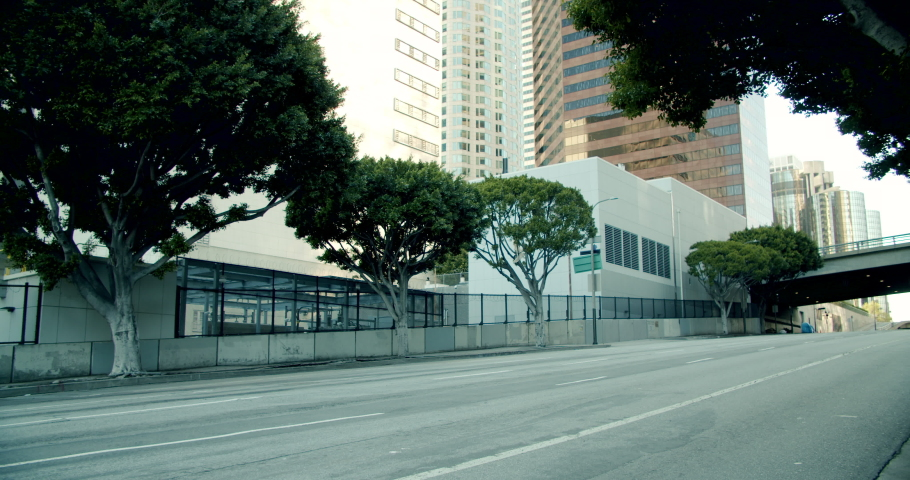 Empty Downtown LA Streets Inner City 4K 48FPS SLO-MO | Shutterstock HD Video #1052957897