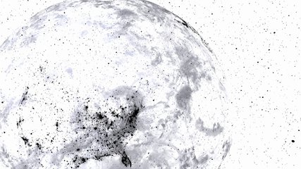 Techy black and white earth. Great textless background video with room for your text. Perfect for presentations.