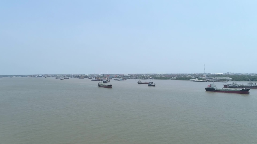 Container ship in Gulf of Thailand. | Shutterstock HD Video #1052999186
