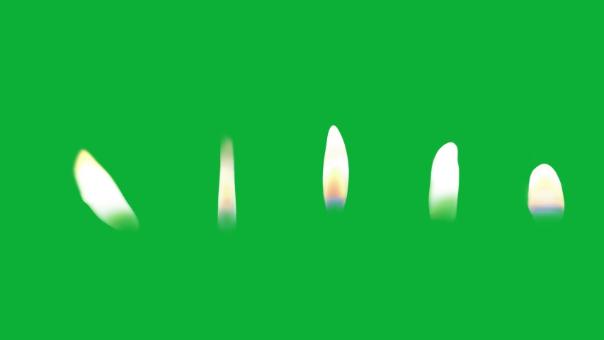 Realistic Candle Flame ( Endless loop ) 5 different Candle flames animation on Green screen - candle Fire flame | Shutterstock HD Video #1053004490