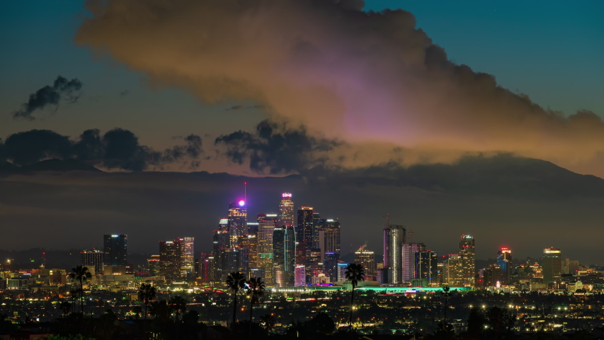Downtown Los Angeles Sunrise Timelapse