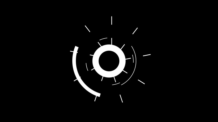Set To Circle Burst And Explosive Accent Elements On Black Background
