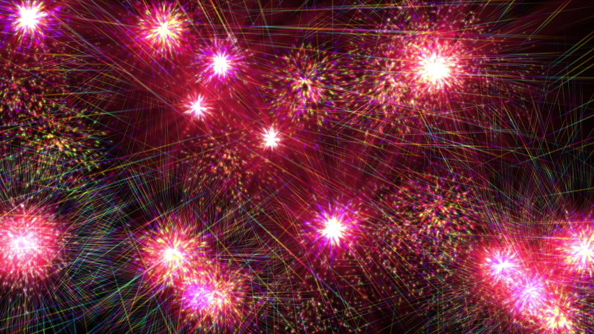 Color fireworks explosion abstract particles animation 4k | Shutterstock HD Video #1053035768
