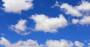 Grand Blue Sky cloud background Series SKY CLEAR beautiful cloud Blue sky with clouds 4K sun Time lapse clouds 4k rolling puffy cumulus cloud relaxation weather. Time lapse, beautiful sky with clouds