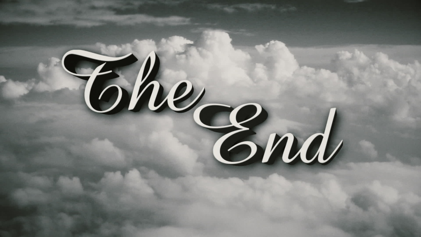 A retro old fashioned wizard of oz style the end movie or film end title page includes three distressed film options plus normal clean version | Shutterstock HD Video #1053049331