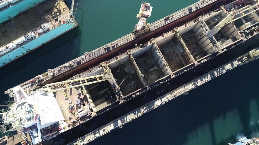 Ship repair at the shipyard