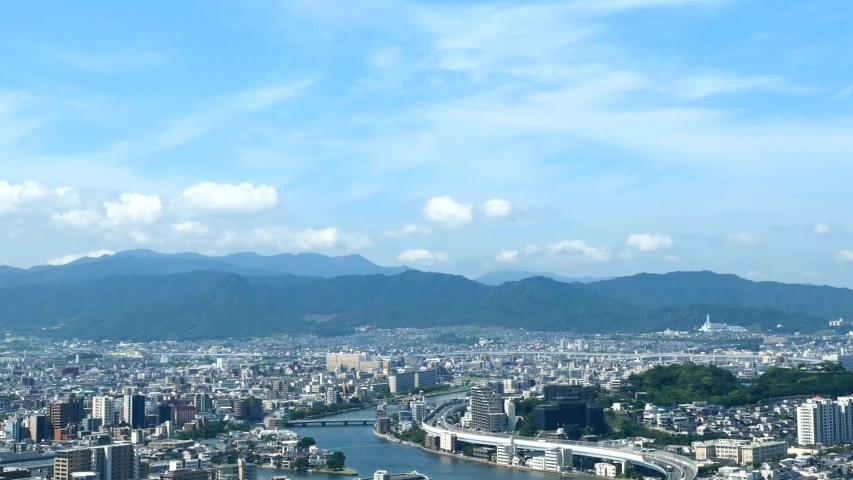 Landscape of Fukuoka city in Japan | Shutterstock HD Video #1053072833